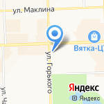 Аквамарин на карте Кирова