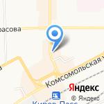 Цветочный на карте Кирова