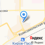 Дискобол на карте Кирова