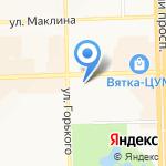 Дачница на карте Кирова