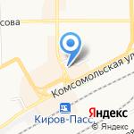 Саквояж на карте Кирова
