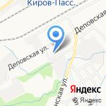 Московский государственный университет путей сообщения на карте Кирова