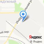 Автостоянка грузовых автомобилей на карте Кирова