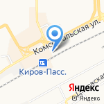 Перрон на карте Кирова