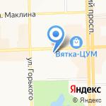 Вятские Лотереи на карте Кирова
