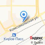 Акация на карте Кирова