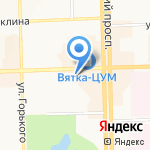Цифровой дым на карте Кирова
