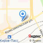 Рубин на карте Кирова