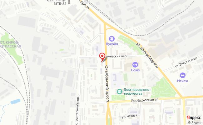Карта расположения пункта доставки FOX IN BOX в городе Киров