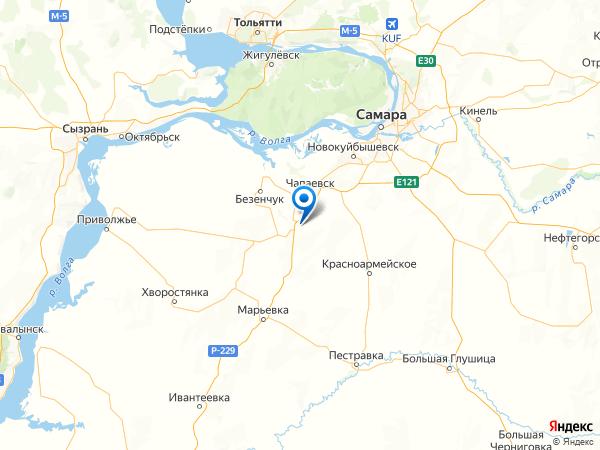 село Прибой на карте