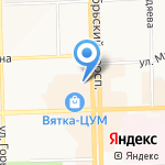 Кафе-блинная на карте Кирова