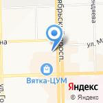 Вятская государственная сельскохозяйственная академия на карте Кирова