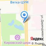 Hilton Garden Inn Kirov на карте Кирова