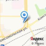 Пестрый кот на карте Кирова