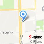 Вятка-знак на карте Кирова