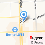 Подиум на карте Кирова