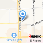 Сеть коммерческой недвижимости на карте Кирова