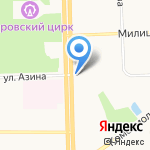Крепость на карте Кирова