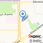 Город Киров-ЖКХ на карте Кирова