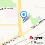 Пожарная часть №3 по охране Ленинского района на карте Кирова