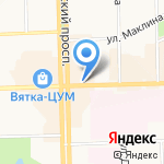 Торговый город на карте Кирова