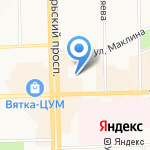 Детский сад №192 на карте Кирова