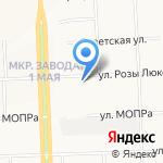 Модница на карте Кирова
