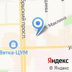 Детский сад №122 на карте Кирова