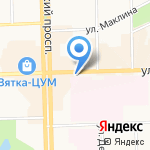 Кировский хладокомбинат на карте Кирова