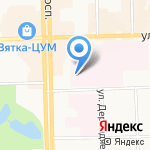 Кировская областная клиническая больница на карте Кирова