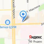 Пальмира на карте Кирова