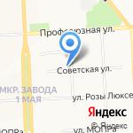 Катигорошек на карте Кирова