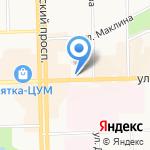 АРЕНА на карте Кирова