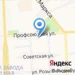 Сан Сити на карте Кирова