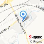 Джина на карте Кирова