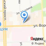 Аделанте на карте Кирова
