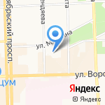 Детский сад №160 общеразвивающего вида на карте Кирова