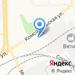 Меховая радуга на карте Кирова