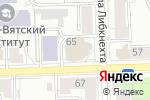 Схема проезда до компании Мастерская в Кирове
