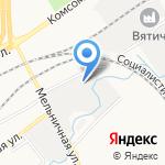 Современные замки на карте Кирова