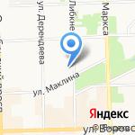 Сакварели на карте Кирова