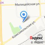 Локомотив на карте Кирова