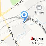 Дельфин на карте Кирова