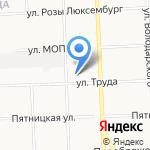 Средняя общеобразовательная школа №14 на карте Кирова