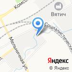 Пингвин на карте Кирова