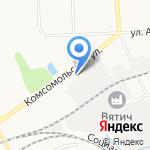 АТЭК на карте Кирова