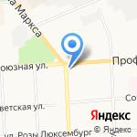 Чирковский карьер на карте Кирова