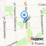 Теннисный корт на карте Кирова