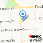 РОЛЛ ХОЛЛ на карте Кирова