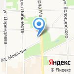 Белая Река на карте Кирова